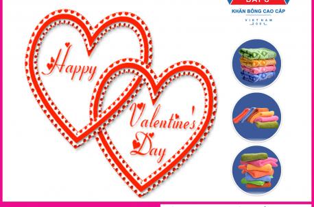 bộ khăn quà tặng ngày lễ tình yêu Valentine 14/2 QT2
